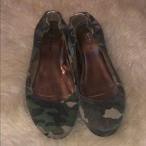 Camouflage camo ballet flats